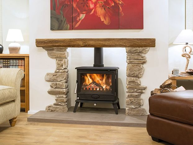 Newman Oak Effect Inglebeam – Bideford with York Design Stone Corners 60""
